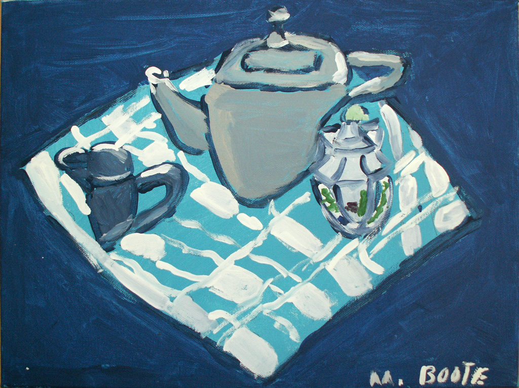 CA-LArche_Greater_Vancouver-Melina_Boote-Tea_on_a_Blanket-30x40-Acrylic_on_canvas-2014
