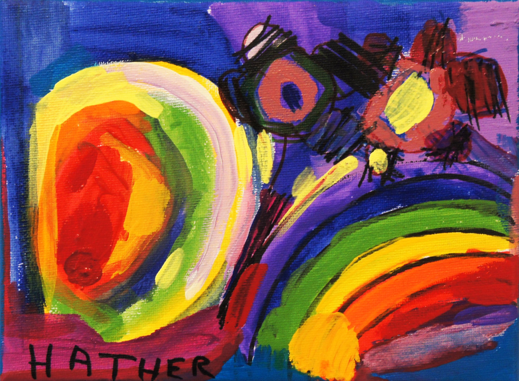 CA-LArche_Homefires-Heather_Pineo-Rainbows-Acrylic&markers_on_canvas-2012