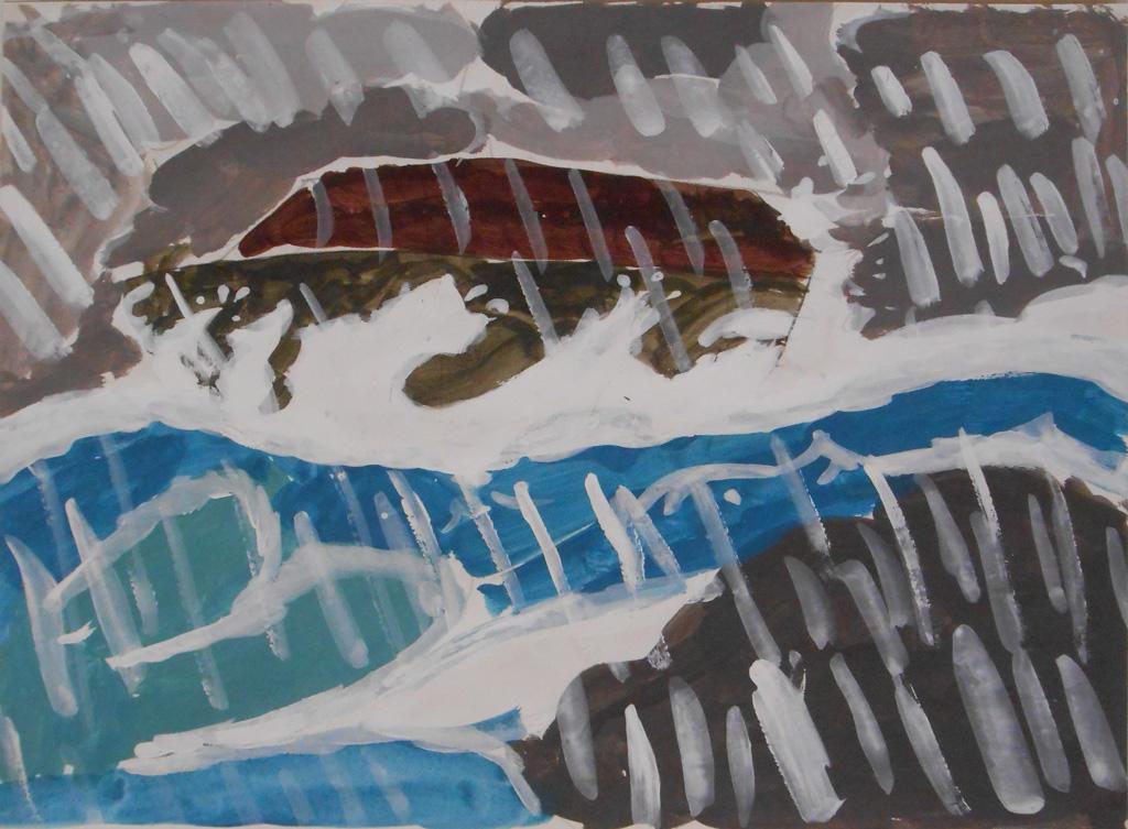 FR-LArche_LAtre-Sebastien_Bourse-Arche_de_Noe-29.7x40-Peinture_acrylique_et_gouache-2006