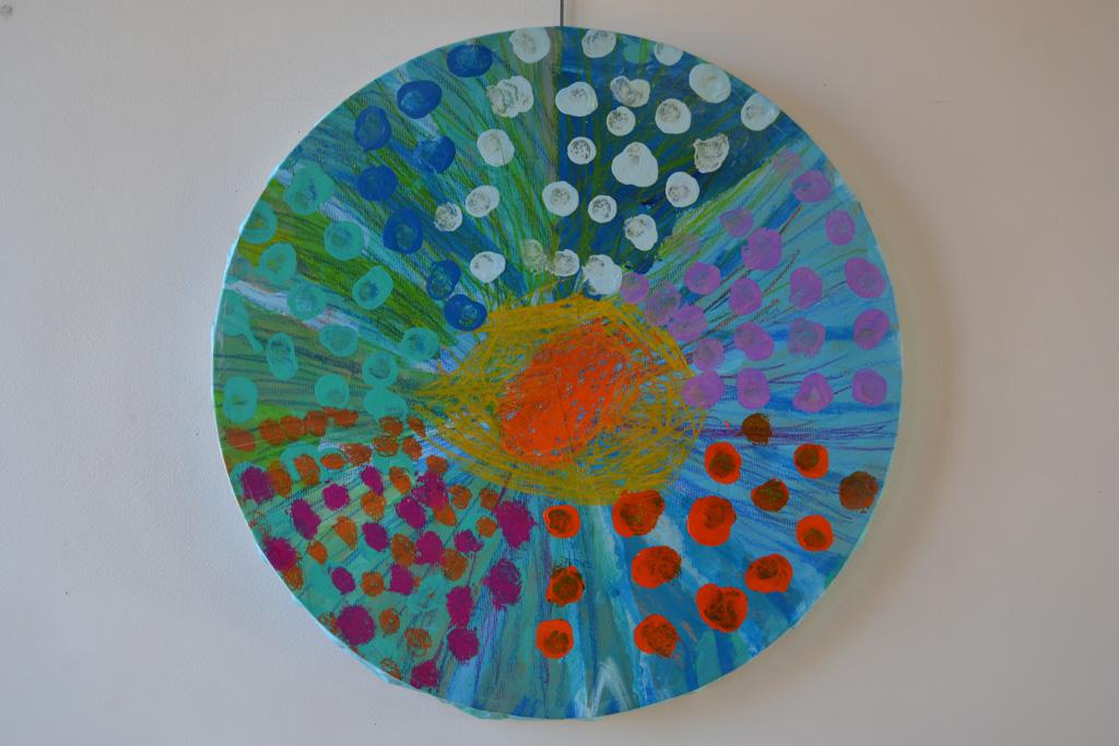FR-LArche_Reims-Josine-Claire-Eclat_de_bulles-60-Acrylique&pastels_sur_papier_colle_sur_toile-2013