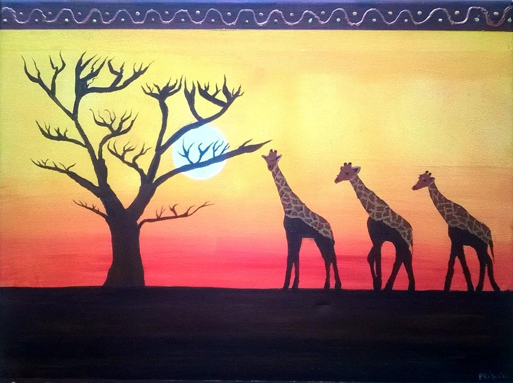 FR-LArche_Trosly-Priscillia_Duboue-Paysage_dAfrique-40x50-peinture_acrylique_sur_toile-2013