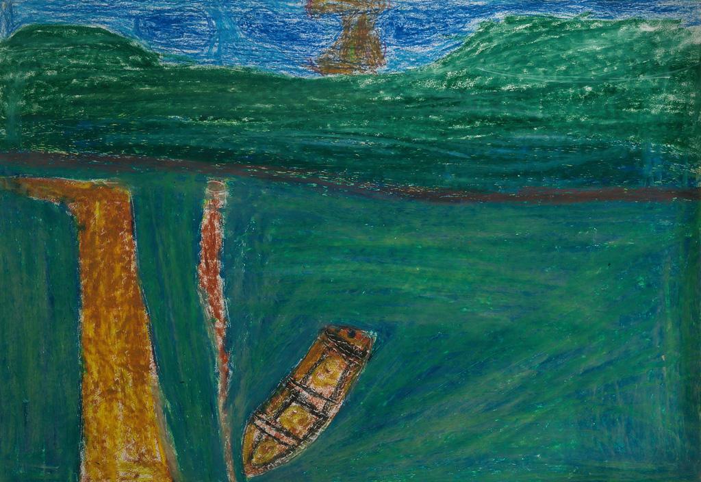 PL-LArche_Poznan-Bartlomiej_Dabrowski-Jezioro_Bajkal-43.2x29.68-Oil_pastels_on_paper-2003