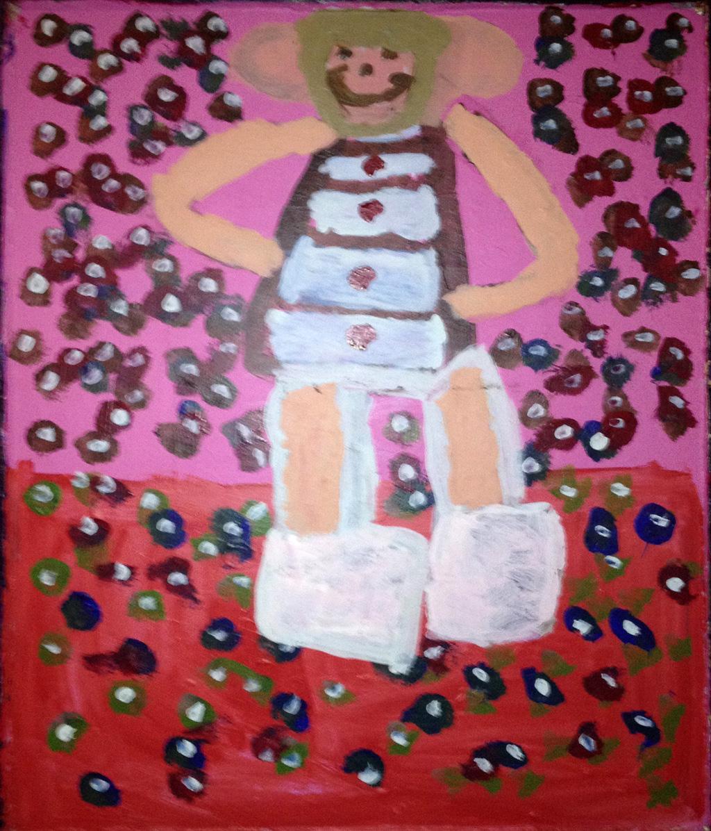 US-LArche_Chicago-Jean_Wilson-The_Snow_Lady-76.2x91.4-Acrylic_paint-2011