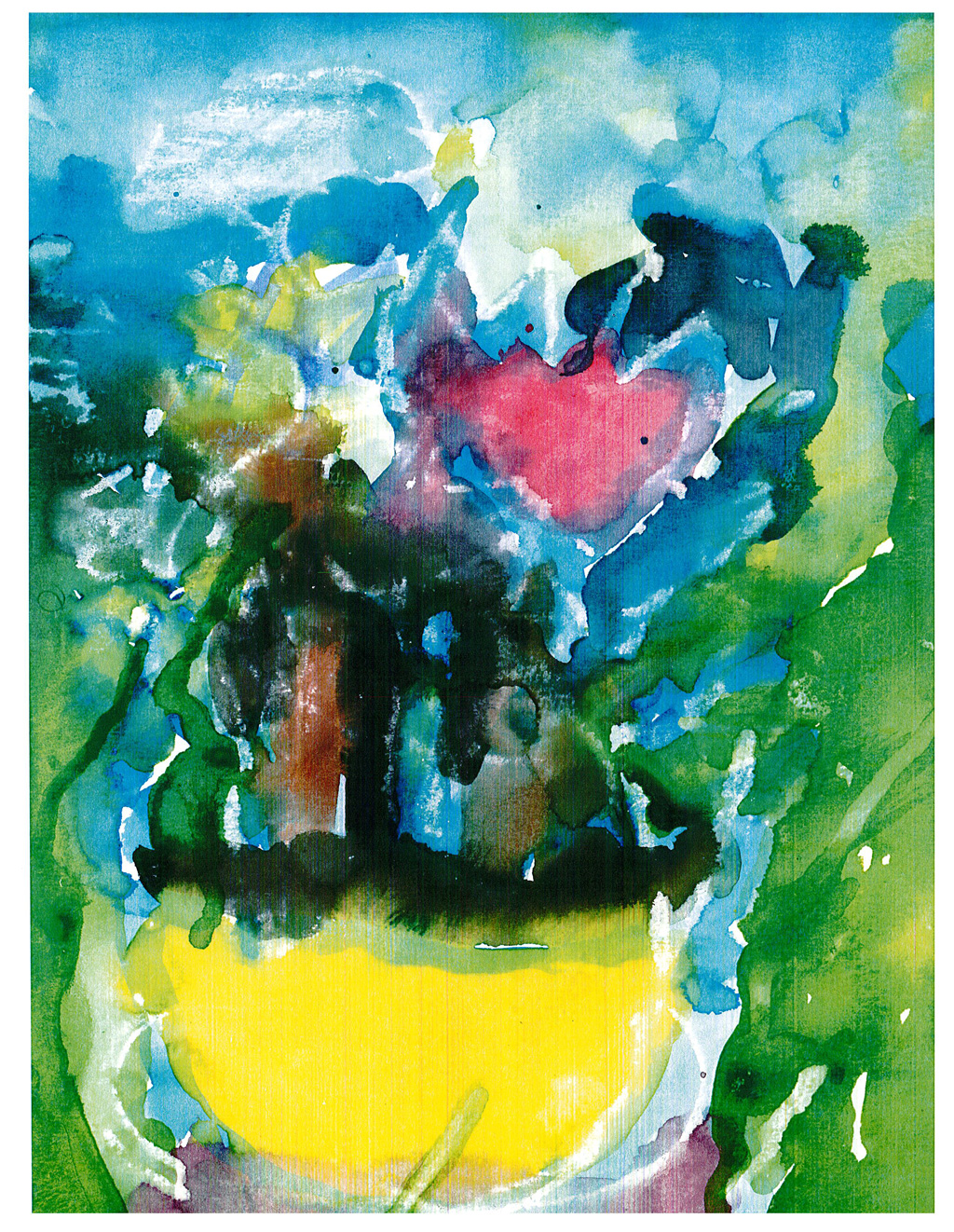 US-LArche_Cleveland-Betty_Jean_Rogers--Sunflowers&tulips-20.3x-29.2-Watercolor-2010