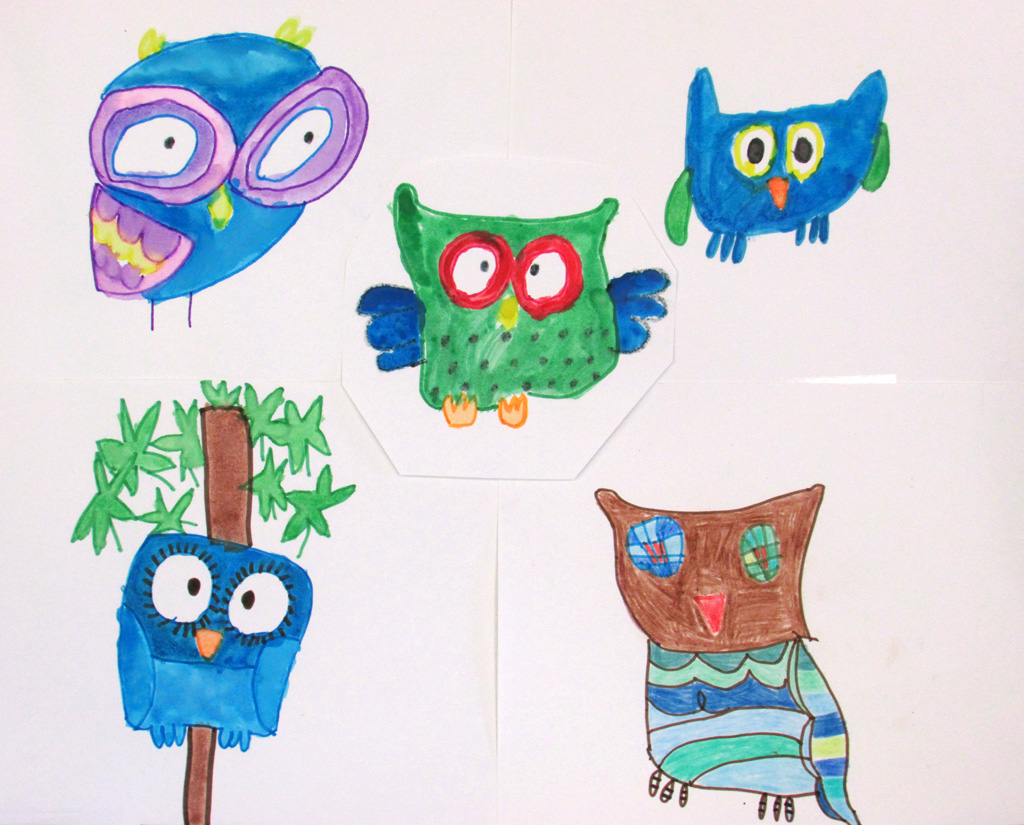 US-LArche_Erie-Richard_Hauser-Collection_of_Owls-40.3x55.9-Watercolor&marker_on_paper-2014