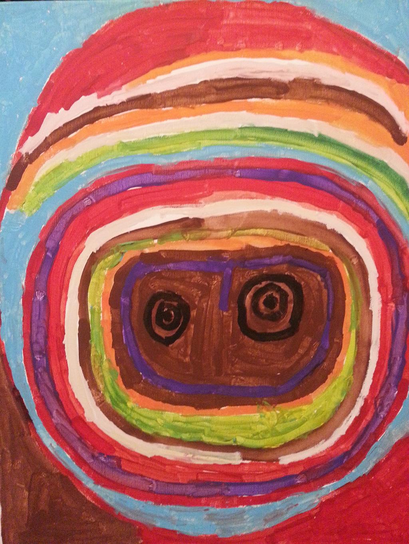 US-LArche_Harbor_House-Brenda_Viera-Mummy-40.6x50.8-Acrylic_paint_on_canvas-2014